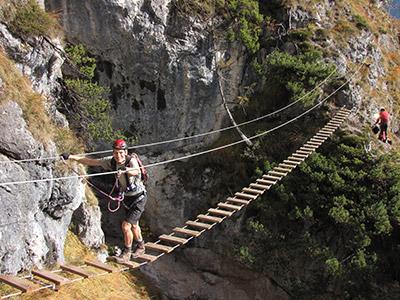 Klettersteig Grade : Grünstein klettersteig isidor variante